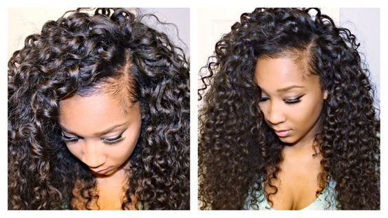 Curly weave styles