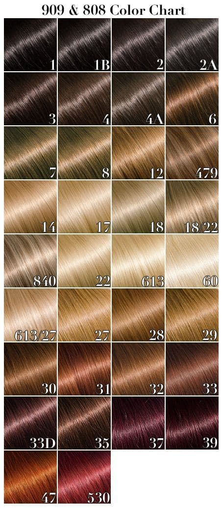 Hair Extension Chart
