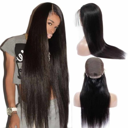 Indian 13x5 Straight Remy Lace Front Wigs With Baby Hair (1)