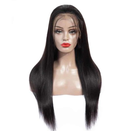 Indian 13x5 Straight Remy Lace Front Wigs With Baby Hair (5)