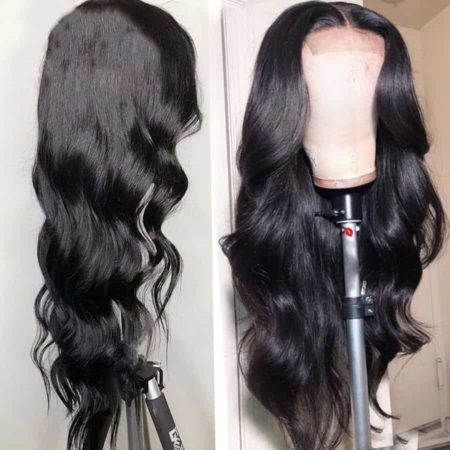 Lace Front Wigs 100 Indian Remy Human Body Wave Hair With Baby Hair (6)