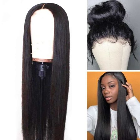 Malaysian Human Hair Lace Front Wigs Straight 13x6 250 Density Hair (1)