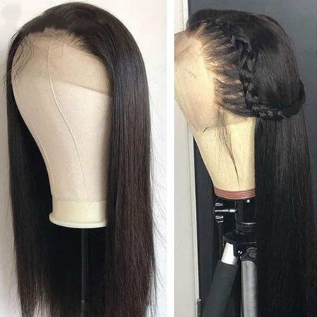 Peruvian 150% Straight 13X5 Lace Front Human Hair Wigs (1)