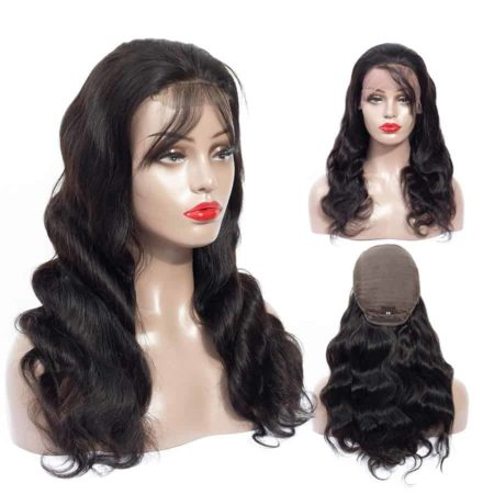 Peruvian Body Wave Lace Front Human Hair Wigs for Black Women Pre Plucked Hairline with Baby Hair (5)