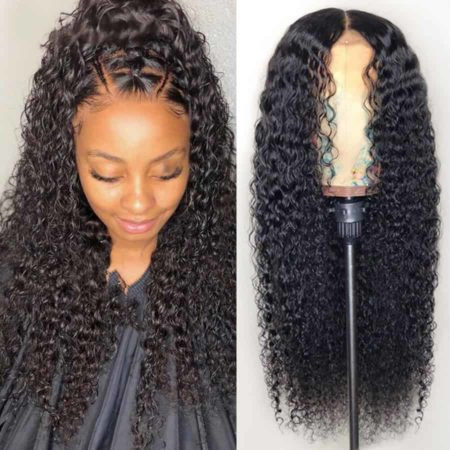 Peruvian Kinky Curly 13x4 Lace Front Human Hair Wigs With Baby Hair (5)