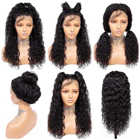 Peruvian Wet And Wavy 13x4 Lace Front Human Hair Wigs For Black Women (5)