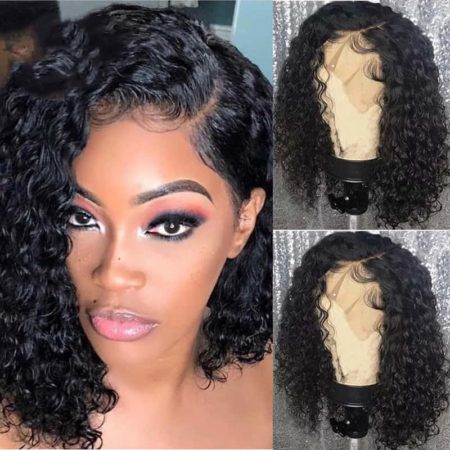 Short Curly Lace Front Human Brazilian Hair Wigs Pre Plucked With Baby Hair (5)