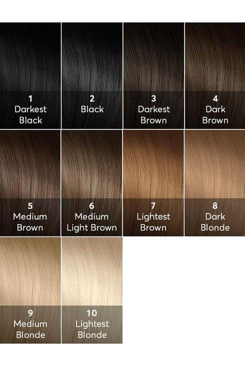 The hair color levels