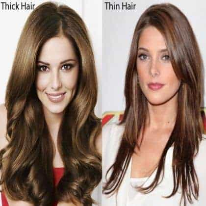 Thick Vs Thin Hair Thickness And Hair Density Hair Theme