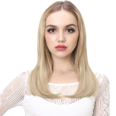 U Part Wig Synthetic 18 Inch Hair For Women (2)