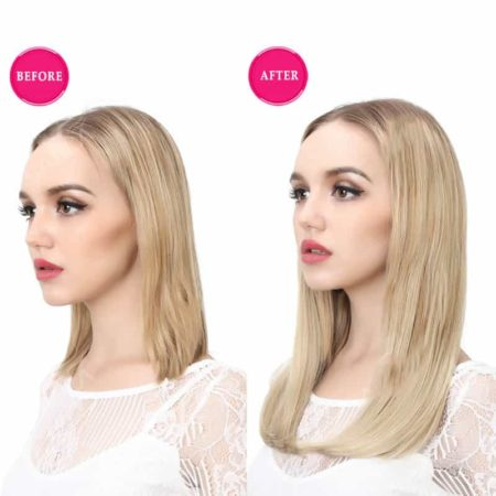 U Part Wig Synthetic 18 Inch Hair For Women (4)