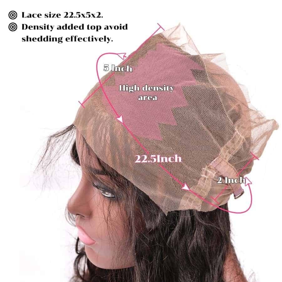 100% Human Brazilian Body Wave Hair 360 Lace Frontal Closure With Baby Hair (1)