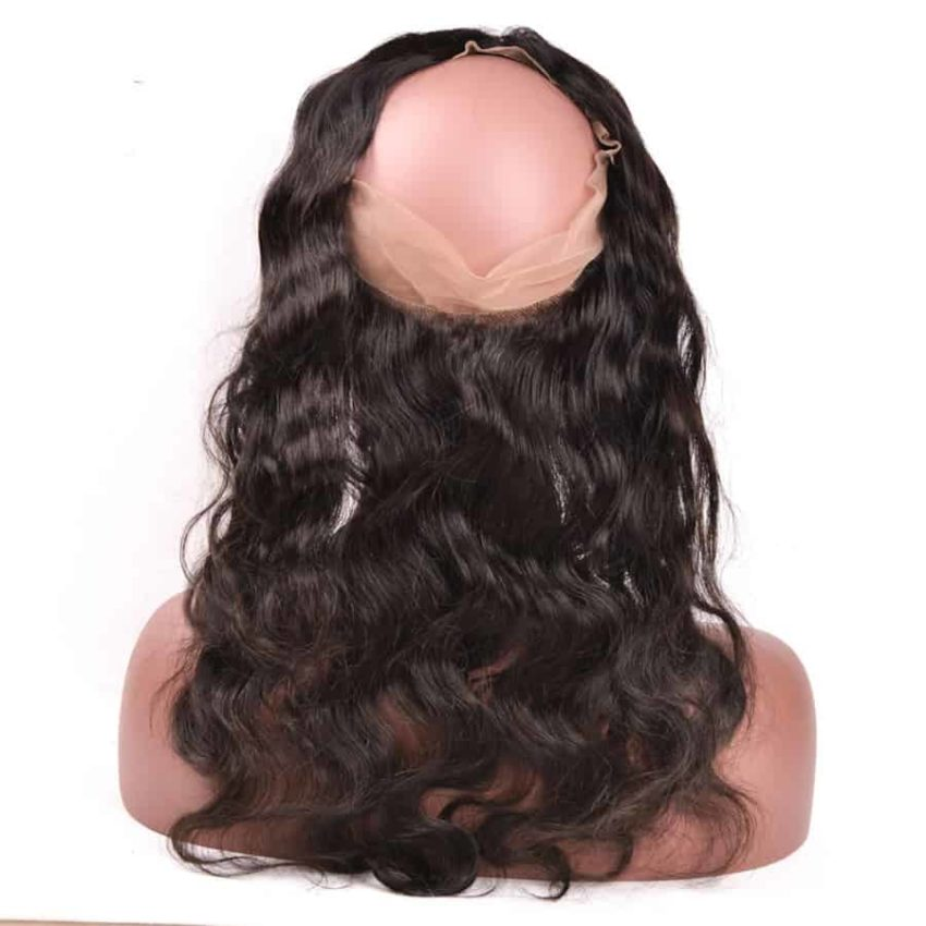 100% Human Brazilian Body Wave Hair 360 Lace Frontal Closure With Baby Hair (2)