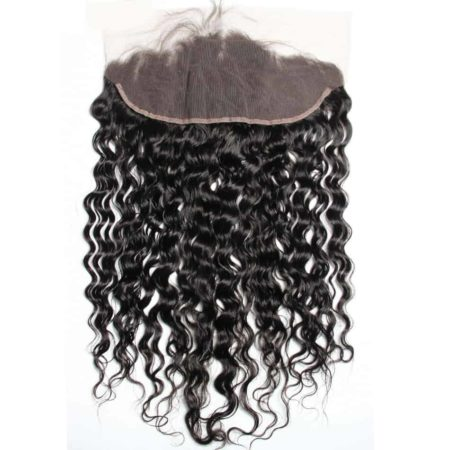 13x4 Lace Frontal Closure Water Wave Human Hair 130% Density Pre Plucked With Baby Hair (1)