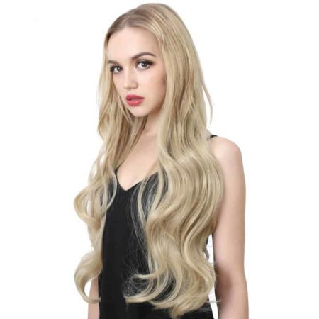 28 inch Body Wave U Part Half Wig Synthetic Hair (3)