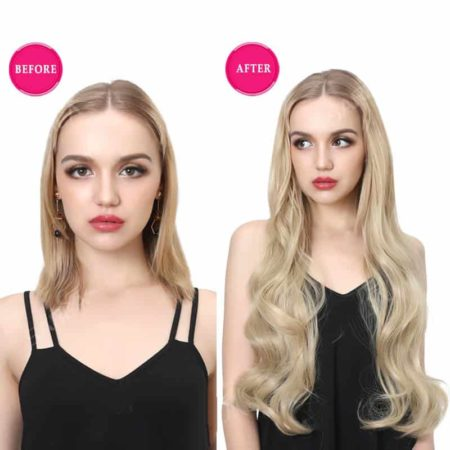 28 inch Body Wave U Part Half Wig Synthetic Hair (6)
