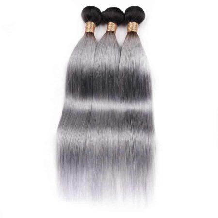 3 Bundle Hair Deals With Closure Tb Dark Grey Brazilian Hair Straight (6)