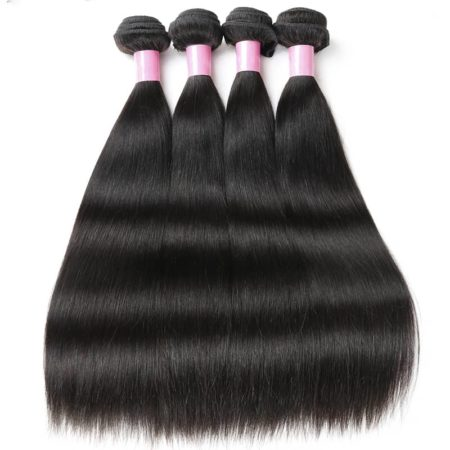 3&4 Bundles With Frontal Malaysian 100% Human Straight Hair Weave (6)