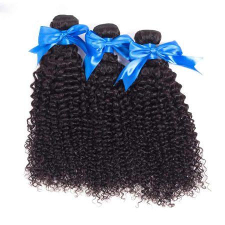 360 Brazilian Lace Frontal With Bundles 100% Kinky Curly Human Hair (6)