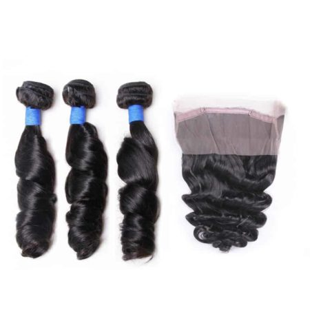 360 Frontal And Bundle Deal Peruvian Remy Human Hair Loose Wave (1)