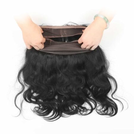 360 Frontal Closure With Bundles Malaysian Human Body Wave Hair (2)