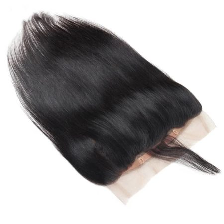 360 Frontal Closure With Bundles Malaysian Straight Hair 2 Bundles With Baby Hair (2)