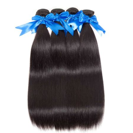 360 Frontal Wig With Bundles Brazilian Straight Hair Weave Pre Plucked (2)
