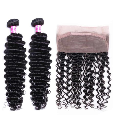 360 Frontal With Bundles Deep Wave Human Hair Weave (1)