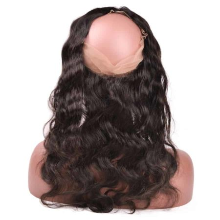 360 Lace Closure With Bundles Human Peruvian Body Wave Hair (2)