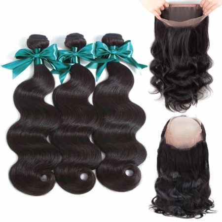 360 Lace Frontal Human Hair With Bundles Brazilian Body Wave Human Hair (5)