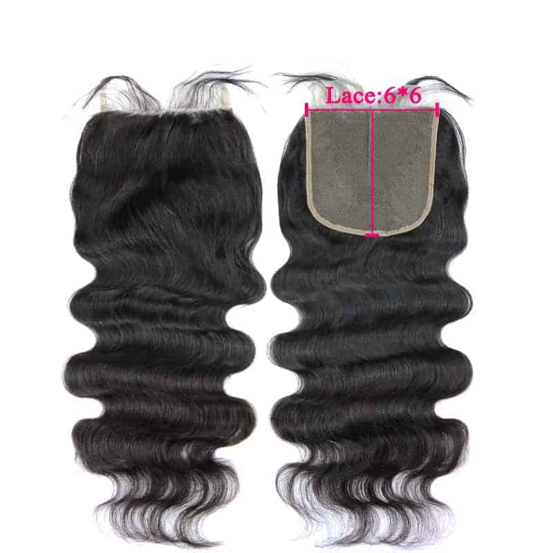 6x6 Lace Closure Brazilian Body Wave Virgin Hair Free Part (5)