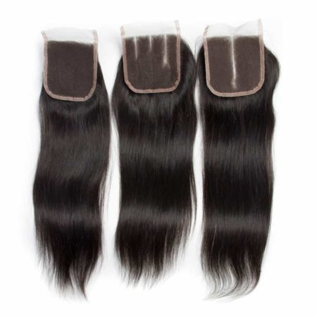 Affordable Peruvian Straight Human Hair Bundles With Closure Deal (2)