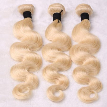 Blonde 613 Brazilian Body Wave Remy Hair Bundles With 360 Lace Closure (5)