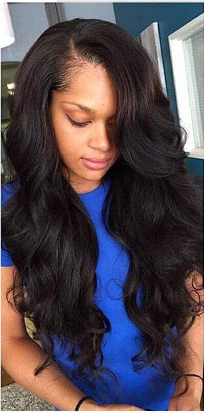 Body wave with side parting