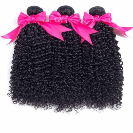 Brazilian 100% Human Kinky Curly 3 Bundles Weave With Closure Hair Deals (4)