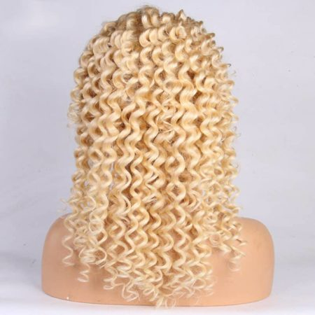 Brazilian 13x6 Curly #613 Blond Lace Front Wig Pre Plucked Remy Hair Bleached Knot (4)