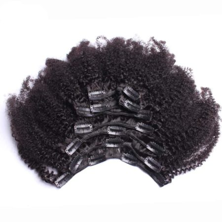 Brazilian Afro Kinky Curly Clip In Human Hair Extensions For Women (5)