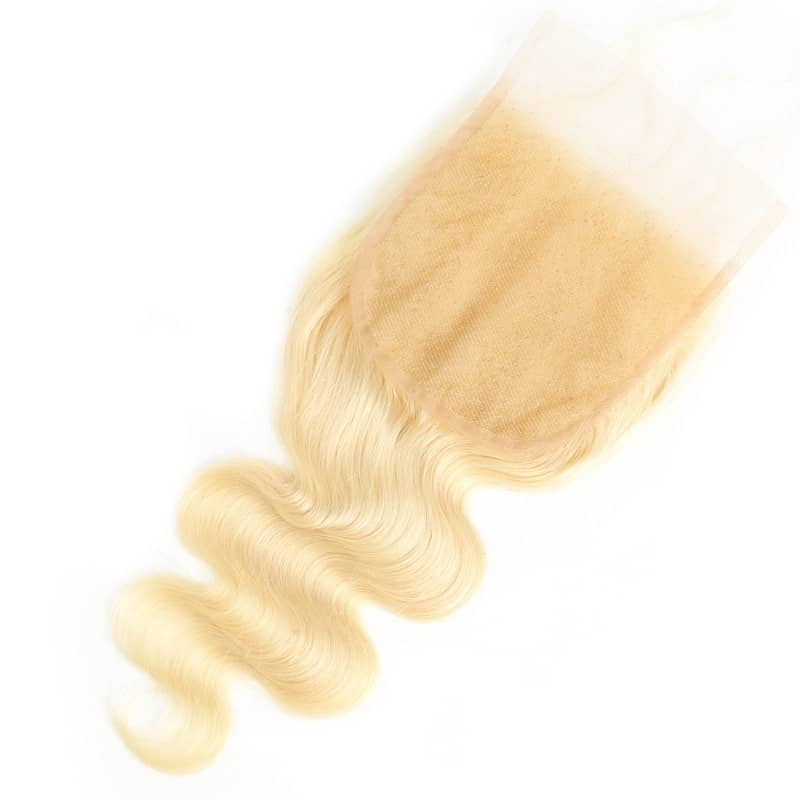Brazilian Body Wave 5x5 Human Lace Closure Blonde 613 Platinum With Baby Hair (5)
