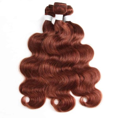 Brazilian Body Wave Brown Human Hair Weave Bundles With Closure (6)