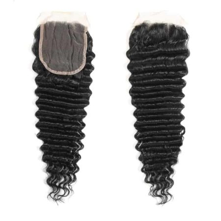Brazilian Curly Hair Bundle Deals Human Wet and Wavy With Lace Closure (2)