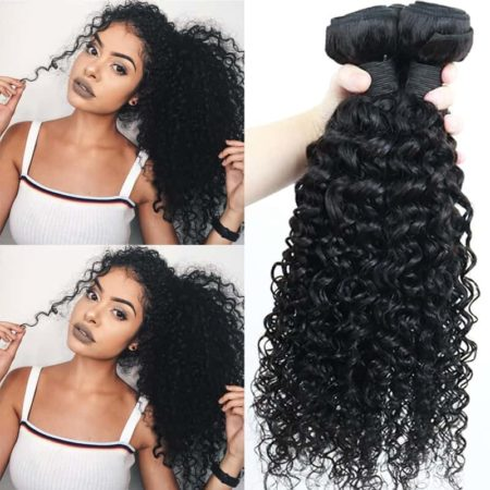 Brazilian Deep Curly Virgin 100% Human Hair Weave 3 Bundles (3)