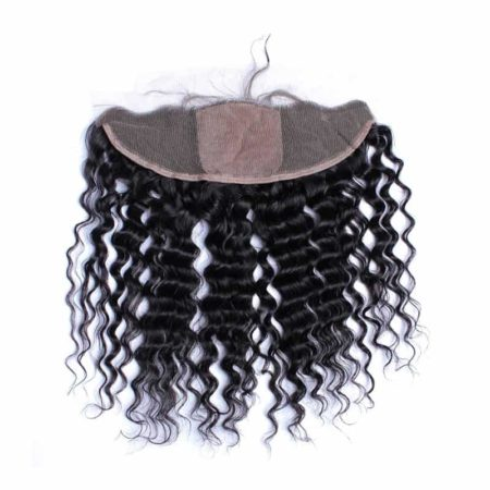 Brazilian Deep Wave 13x4 Silk Base Frontal With 3 Bundles Hair Weave Sale (3)