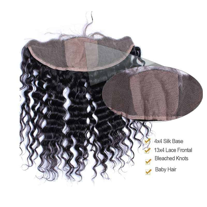 Brazilian Deep Wave 13x4 Silk Base Frontal With 3 Bundles Hair Weave Sale (6)