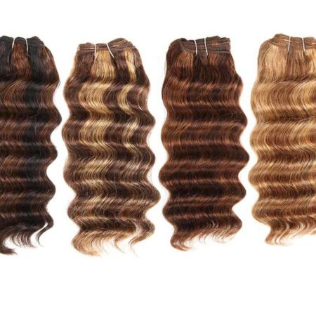 Brazilian Deep Wave Human Hair 1 Bundle Remy Hair Narural Color #P1B 30 #P4 30 #P4 27 #P6 27 (1)