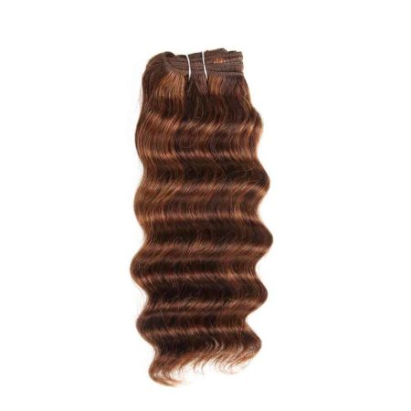 Brazilian Deep Wave Human Hair 1 Bundle Remy Hair Narural Color #P1B 30 #P4 30 #P4 27 #P6 27 (4)