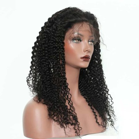 Brazilian Full Lace Wigs Human Hair Kinky Curly For Women 130% Density (4)