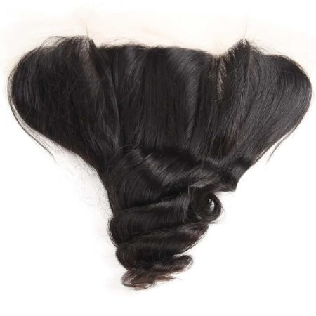 Brazilian Hair Weave 3 Bundles With Lace Frontal Closure 13X4 Free Part Natural Color (4)