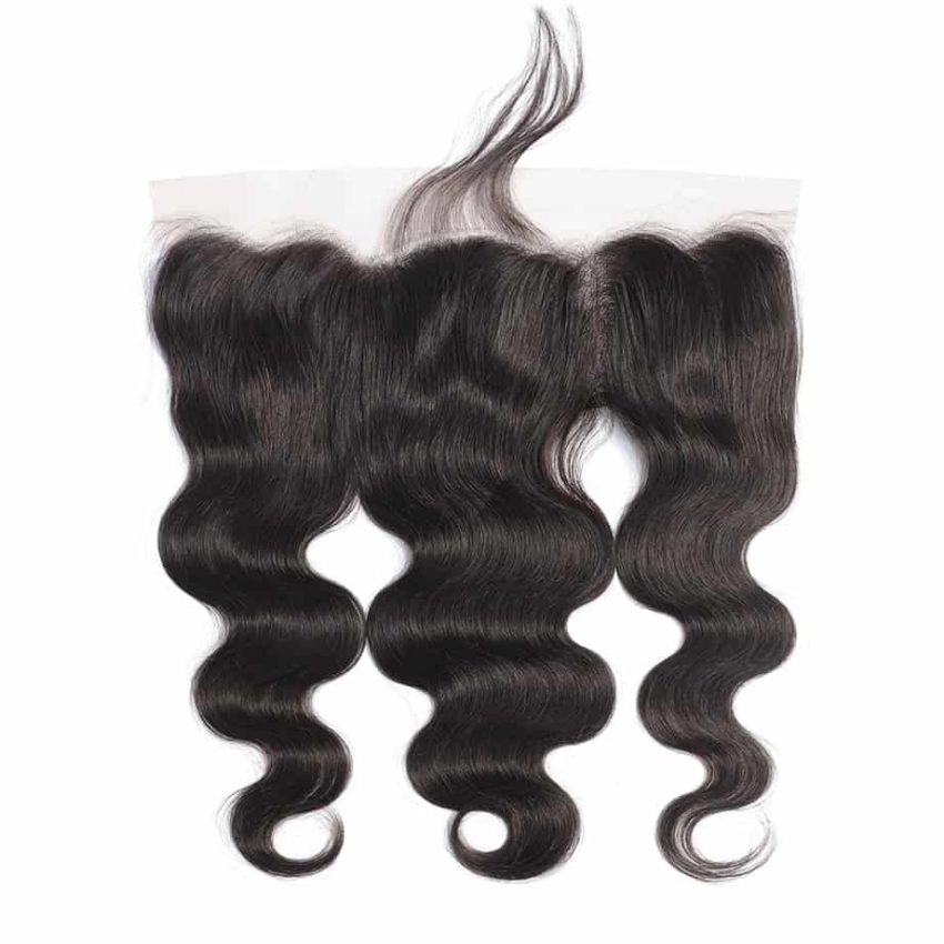 Brazilian Human Body Wave 13X6 Lace Frontal Closure With Baby Hair Ear To Ear (1)