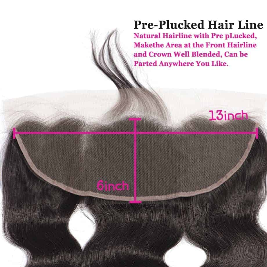 Brazilian Human Body Wave 13X6 Lace Frontal Closure With Baby Hair Ear To Ear (3)