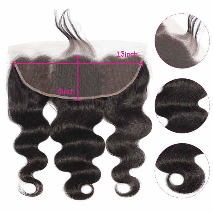 Brazilian Human Body Wave 13X6 Lace Frontal Closure With Baby Hair Ear To Ear (5)